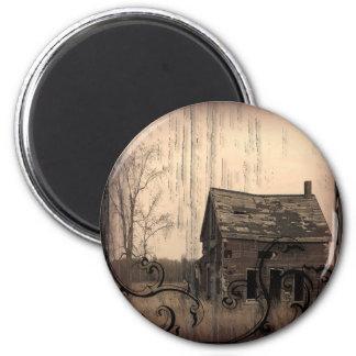 Vintage Western Rustic Country Wedding SaveTheDate Fridge Magnets