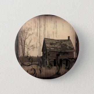 Vintage Western Rustic farm barn Country Wedding Button