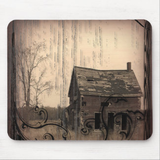 Vintage Western Rustic farm barn Country Wedding Mouse Pad