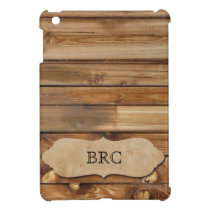 Vintage Western Wood and Parchment Personalized iPad Mini Case