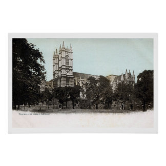 Vintage Westminster Abbey Church London photo Poster