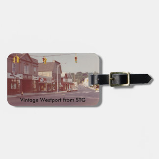 Vintage Westport Luggage Tag - Fine Arts Theater