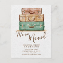 Vintage  We've Moved Moving Announcement Post Card