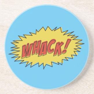Vintage Whack Comic Sound Effect Coaster