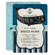 Vintage Whale Baby Shower Sea Nautical Invite