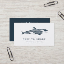 Vintage Whale Business Card