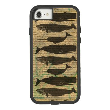 Beach Themed Vintage Whale Classic Artwork Fish Rustic Case-Mate Tough Extreme iPhone 7 Case