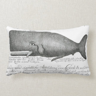 Vintage Whale Illustration, Nautical Throw Pillow