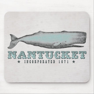 Vintage Whale Nantucket MA Inc 1671 Mousepad