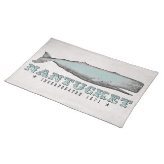 Vintage Whale Nantucket MA Inc 1671 Placemats