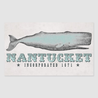 Vintage Whale Nantucket MA Inc 1671 Stickers