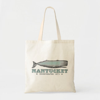 Vintage Whale Nantucket MA Inc 1671 Tote Bag