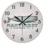 Vintage Whale Nantucket MA Inc 1671 Wall Clock