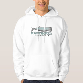 Vintage Whale Nantucket Massachusetts Inc 1671 Hoodie