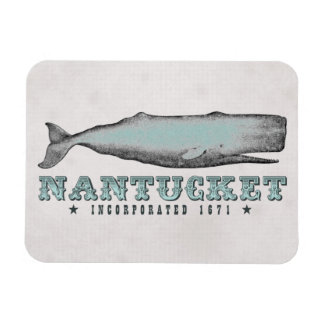 Vintage Whale Nantucket Massachusetts Inc 1671 MA Magnet