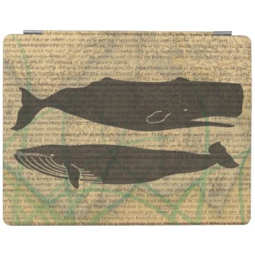 Beach Themed Vintage whale nautical rustic beachy iPad smart cover