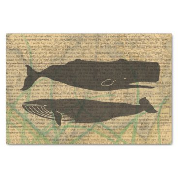 Beach Themed Vintage whale nautical rustic beachy tissue paper