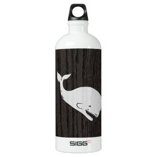 Vintage Whale Sketch On Woodgrain SIGG Traveler 1.0L Water Bottle