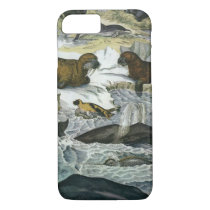 Vintage Whales, Seals and Walruses, Marine Animals iPhone 8/7 Case