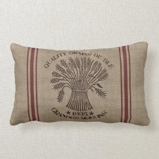 Vintage Wheat Sack Pillow