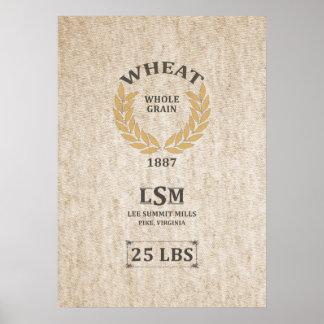 Vintage Wheat Sack Poster