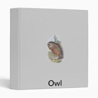 Vintage Whekau extinct laughing owl 3 Ring Binder