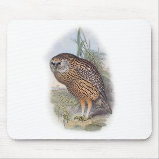 Vintage Whekau extinct laughing owl Mouse Pad
