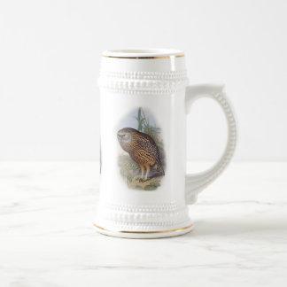 Vintage Whekau extinct laughing owl 18 Oz Beer Stein