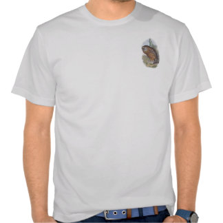 Vintage Whekau (white face) extinct laughing owl Tshirts