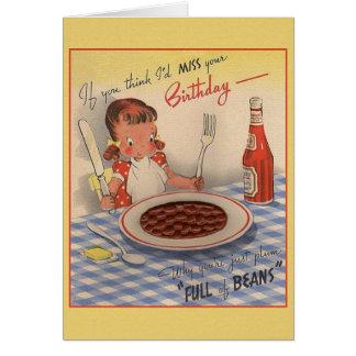 Vintage Whimsical Birthday Greeting Greeting Card