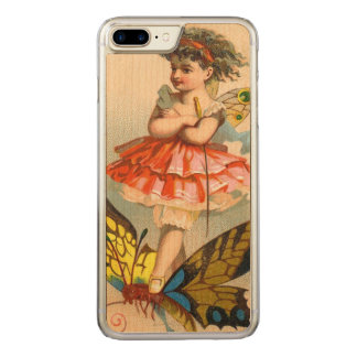 Vintage Whimsical Butterfly Fairy Carved iPhone 7 Plus Case