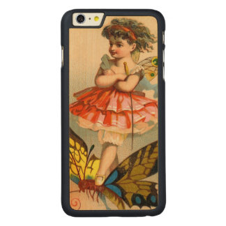 Vintage Whimsical Butterfly Fairy Carved® Maple iPhone 6 Plus Slim Case