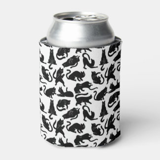 Vintage Whimsical Cat Fabric Can Cooler
