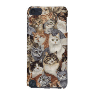 Vintage Whimsical Cat Pattern iPod Touch 5G Case