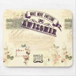 Vintage whimsical girly hipster victorian nouveau mouse pad