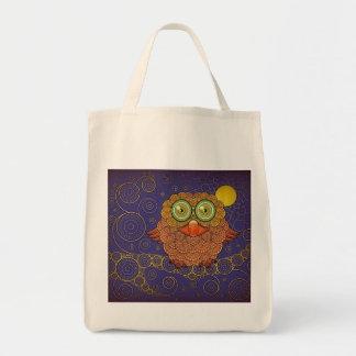 Vintage Whimsical Owl Tote Bag