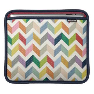 Vintage Whimsy Chevron - Color Love iPad Sleeve