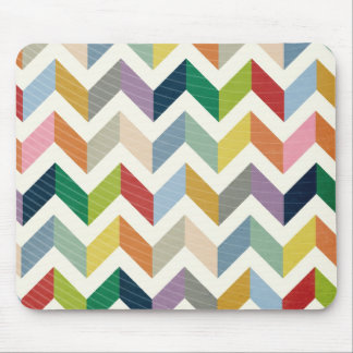 Vintage Whimsy Chevron - Color Love Mouse Pad