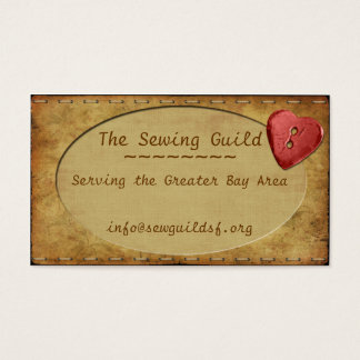 Vintage Whimsy Heart Business Card