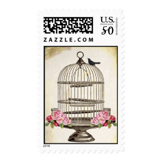 ViNTaGe WHiMSY LiTTLe BiRD PoSTaGe STaMPs