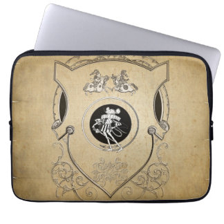 Vintage Whimsy Mouse knight shield Laptop Sleeve