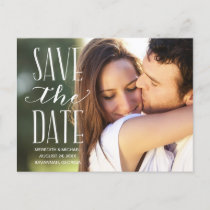 Vintage Whimsy | Photo Save the Date Announcement Postcard