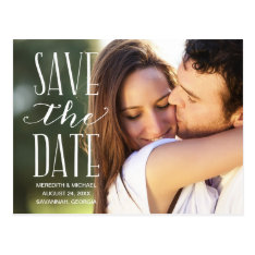 Vintage Whimsy | Photo Save The Date Postcard at Zazzle