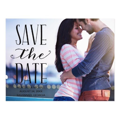 Vintage Whimsy   Photo Save the Date Postcards