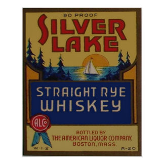 Vintage Whiskey Advertisement Reproduction Poster