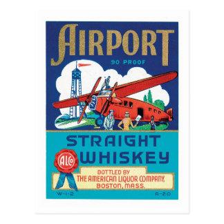Vintage Whiskey Food Product Label Postcard