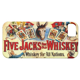 Vintage Whiskey Label Cards Poker Bachelor Party iPhone SE/5/5s Case
