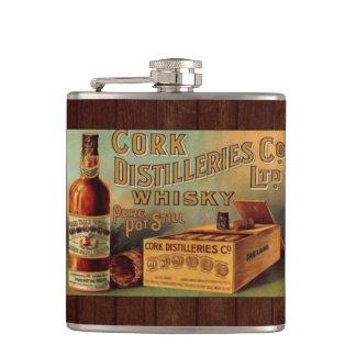Vintage Whiskey Label Flask
