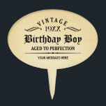 "Vintage Whiskey Person Funny Birthday Cake Topper<br><div class=""desc"">Vintage 1944 1945 1946 1947 1948 1949 1950 1951 1952 1953 1954 1955 1956 1957 1958 1959 1960 1961 1962 1963 1964 1965 1966 1967 1968 1969 1970 1971 1972 1973 1974 1975 1976 1977 1978 1979 1980 1981 1982 1983 1984 Aged to Perfection. Funny 30th 31st 32nd 33rd 34th...</div>"