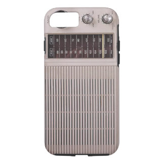 Vintage White And Brown Metal Radio iPhone 7 Case